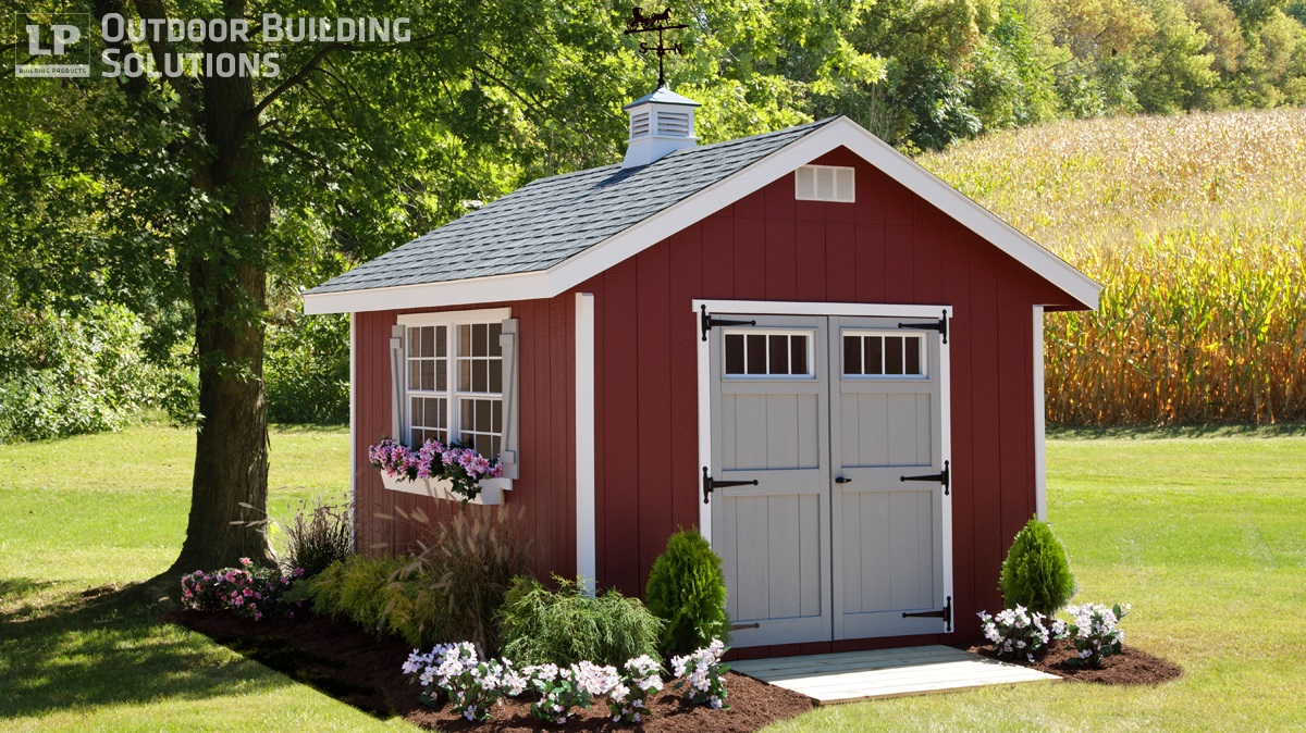 Choosing the right shed shape for you lp shed for Backyard cottage shed