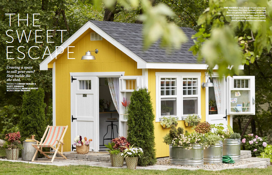 Enter the <em>Better Homes & Gardens</em> Shed Sweepstakes to Win a Custom She Shed!
