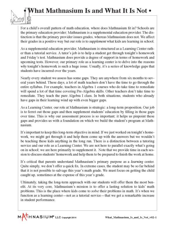 Math Tutoring - Mathnasium of Palatine - The Math Learning Center