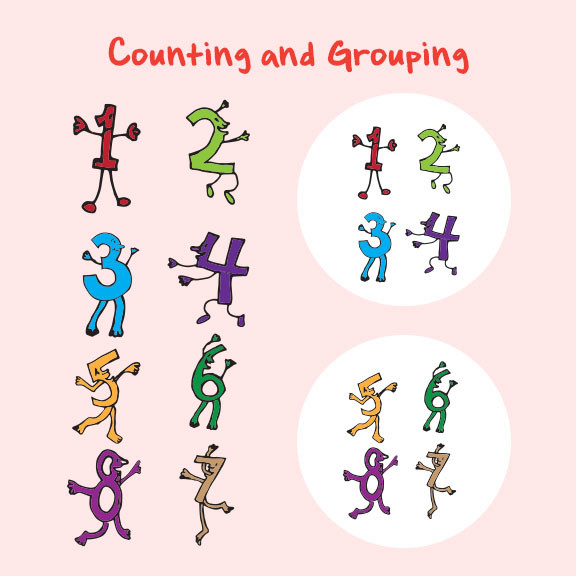 Exercises to Improve Beginner Math Skills: Counting and Grouping
