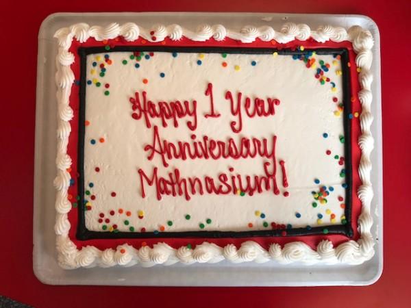 Happy st anniversary mathnasium