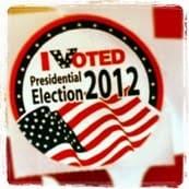 I Voted 2012 Sticker