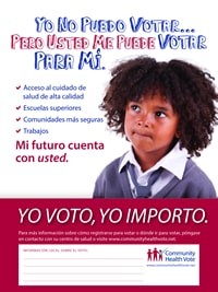 I can't vote CHV Poster Spanish