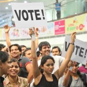 A volunteer group of Bangalore based Software Engineers performed flash mob at Garuda Mall to highlight the need for voting in the upcoming Parliamentary elections in Bangalore on Friday. Mohan Kumar B N DNA
