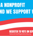 We're a nonprofit and we support voting
