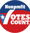 nonprofit votes count logo button