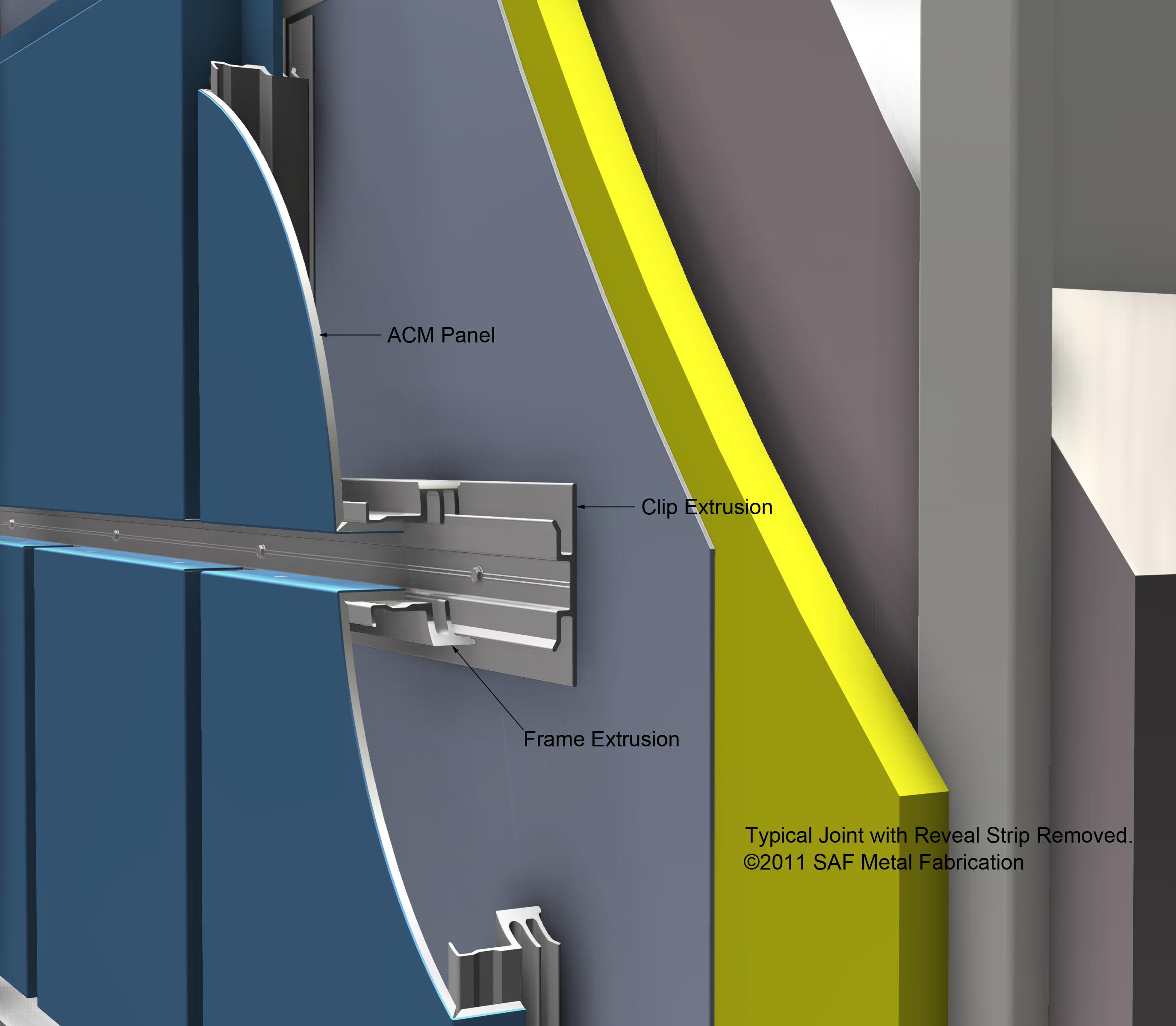 Aluminum Panel System : Series m rainscreen drained back ventilated saf