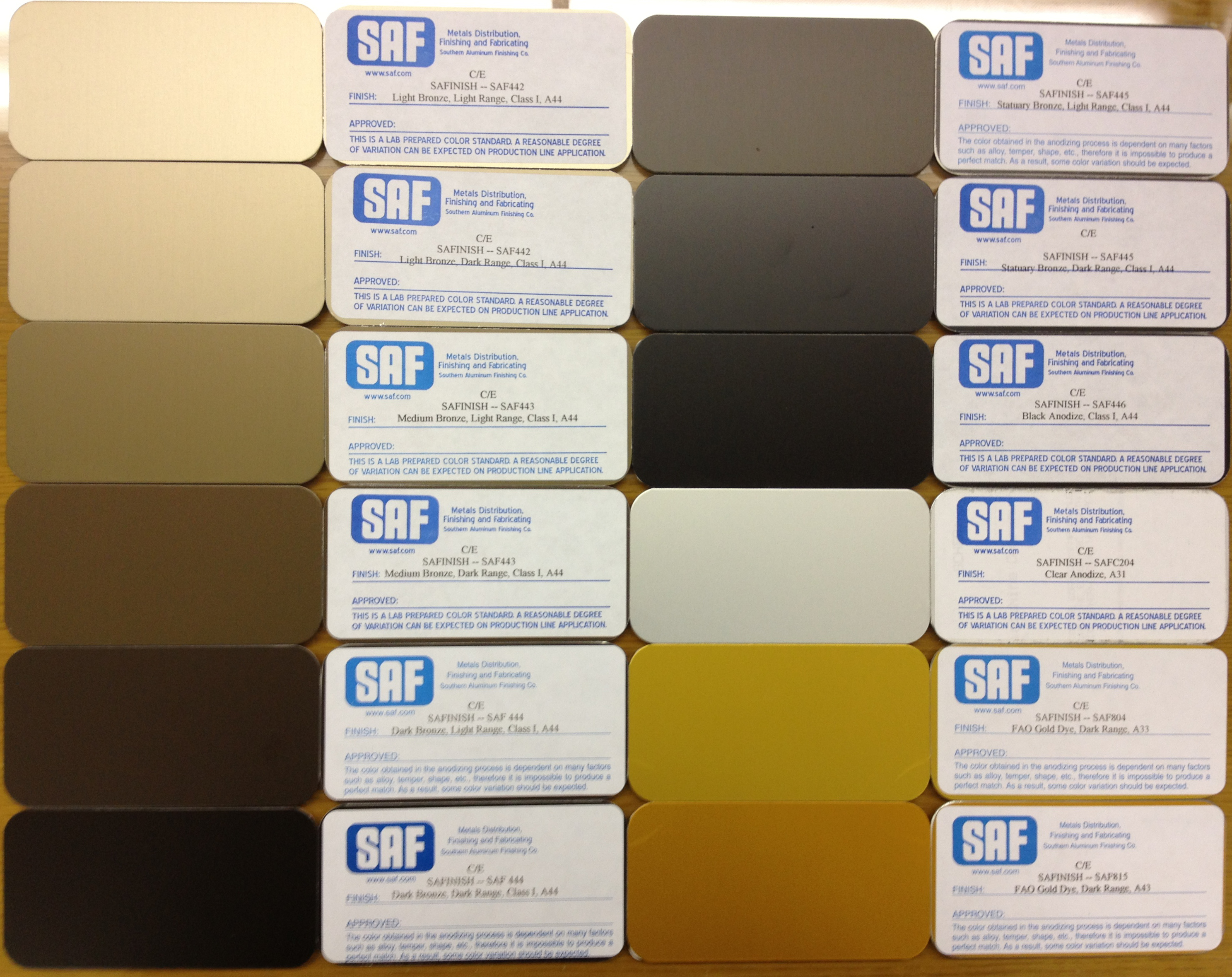 Anodizing color choices saf southern aluminum finishing co inc bronze anodizing color choices nvjuhfo Images