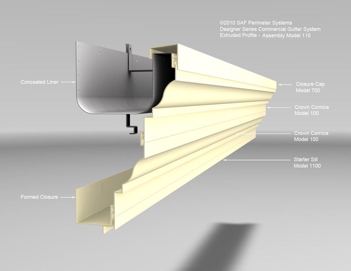 Feature Views Series 100 Extruded Gutters Saf