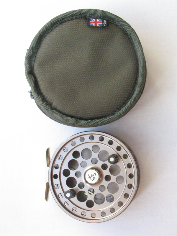 A Pete Reading Barbel Pin. Near mint, complete with original reel case.