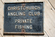 Christchurch Angling Club Sign