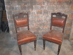 Antique leather Bound Chairs