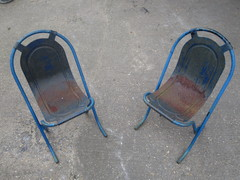 Retro 1960's Walls Ice Cream Metal Chairs