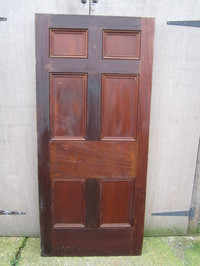 Georgian Mahogany 6 Panel Door