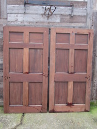Pair Of Georgian Solid Mahogany Doors