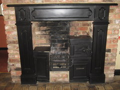 c1890 Cast Iron Mantle Surround Kitchen Range With Bread Oven