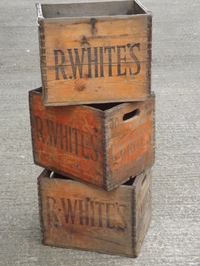 Vintage R Whites Lemonade Crates