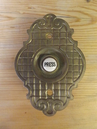Victorian Brass Bell Push