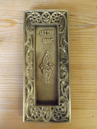 Victorian Brass Letter Box