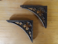 c1890 Gothic/ Ecclesiastical Victorian Shelf Brackets