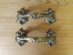 Pair Of Ornate Brass Handles