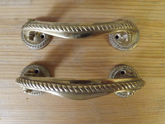 Pair Of Georgian Style Brass Door Handles