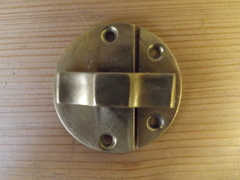 Brass Cupboard Door Twist Catch