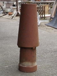 Tall Tapered Red Chimney Pot