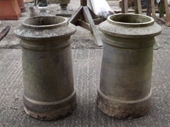 Pair Of Cannon Style Chimney Pots