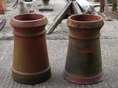 Pair Of Gulson Barrel Chimney Pots