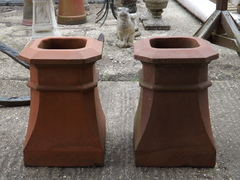 Pair Of Halifax Octagon Chimney Pots