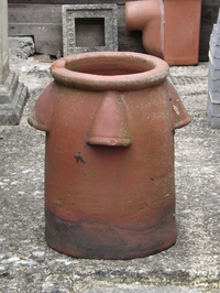 Rare Strawberry Chimney Pot
