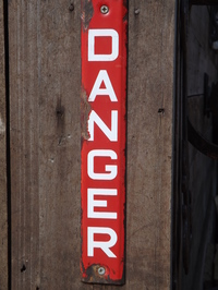 "Telegraph Pole Enamel ""Danger"" Sign"