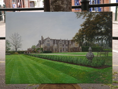 Oil Painting Of Wake Hurst Place, Sussex