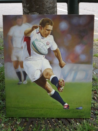 Oil Painting Of Johnny Wilkinson (England Rugby Player)