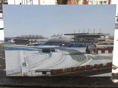 Oil Painting Of Goodwood Race Course In The Snow