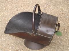 Vintage copper coal scuttle