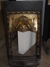 Cast iron & brass art nouveau insert