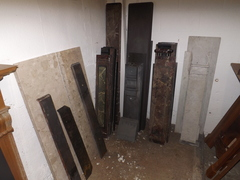 Fireplace spares hearths, cast iron mantel shelves ect...