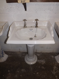 "The ""Imperial"" wash basin with pedstall & taps"