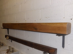 Restored waxed oak beam