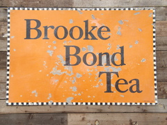 Brook bond enamel sign