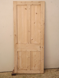 Victorian four panel pine stripped door