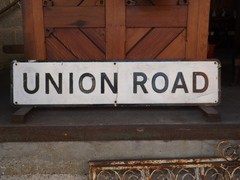 Union road street sign