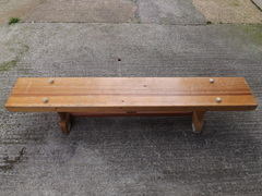 School gymnasium bench
