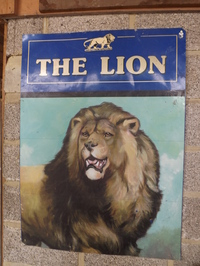 The Lion pub sign
