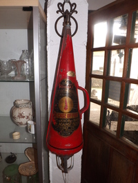 c1940's Vintage minimax cone, conical fire extinguisher
