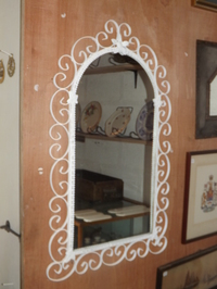 Ornate decorative wall mirror