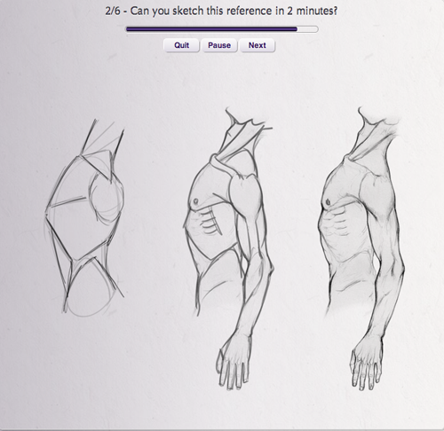 Adaptive learning & practice engine for anatomy drawing