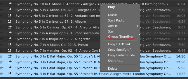 Right click - Group Tracks